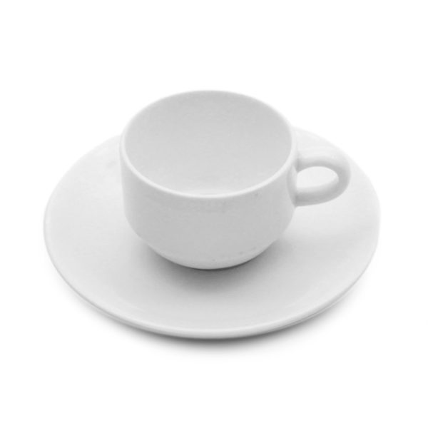 porcelain coupe demitasse cup and saucer for hire
