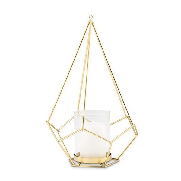 product category gold geometric lantern
