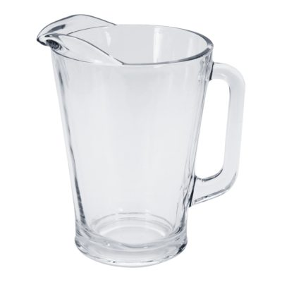 Mondial glass water jug or pitcher for hire