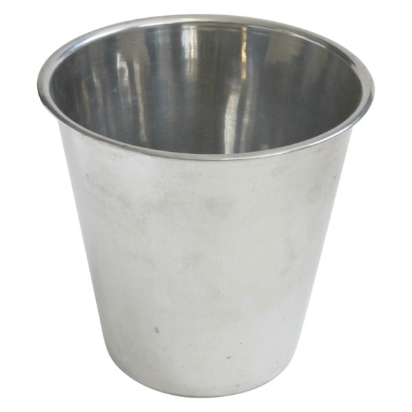 Silver colored drinks cooler ice bucket for events
