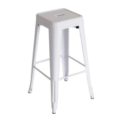 metal barstool white color