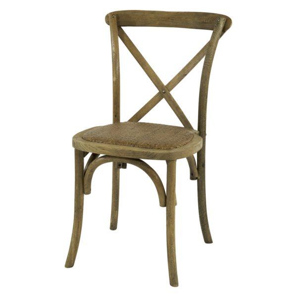 Oak cross-back chair