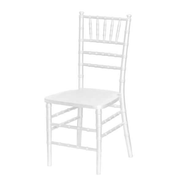 white tiffany chair for weddings and events