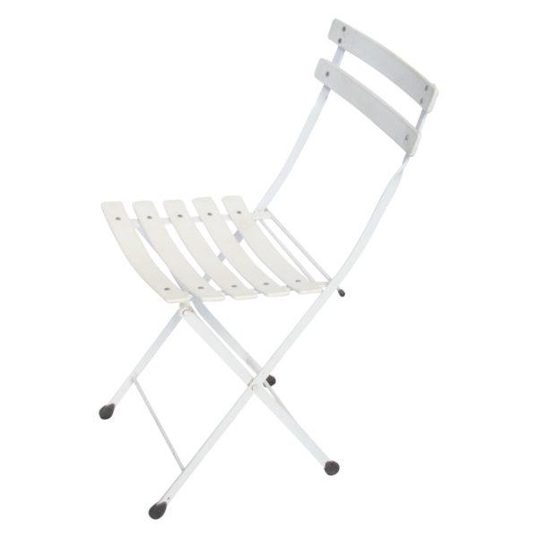 White colored portable deli chair