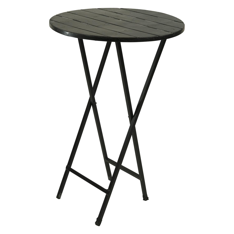 Martini Table: Black Round Deli Cocktail Table