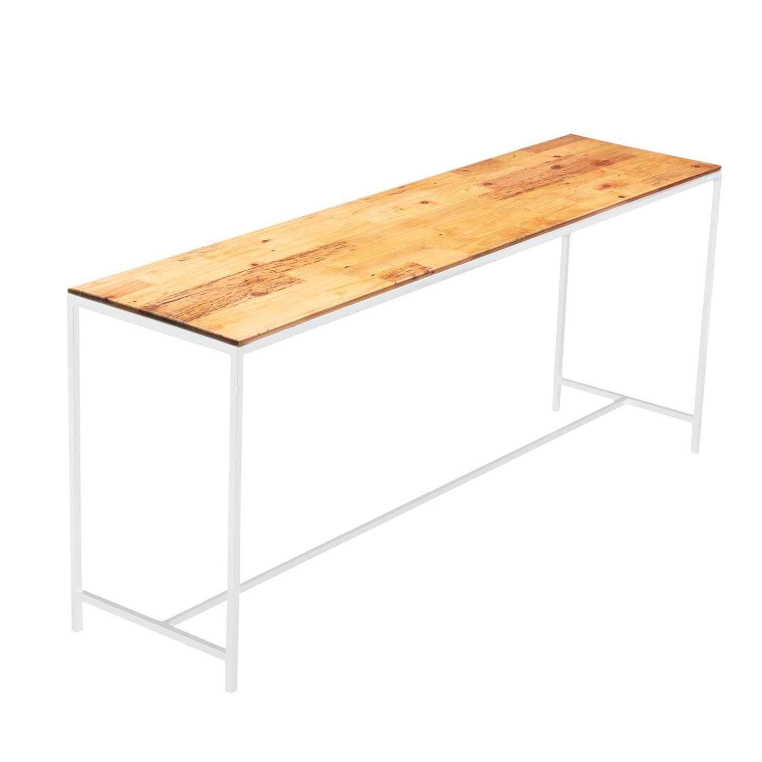 White Natural Wooden Top Conversation Table Ehire