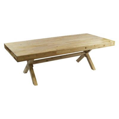 Pine wood harvest table