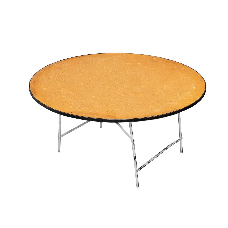 Round Table Orange.Round Table 8 Seater