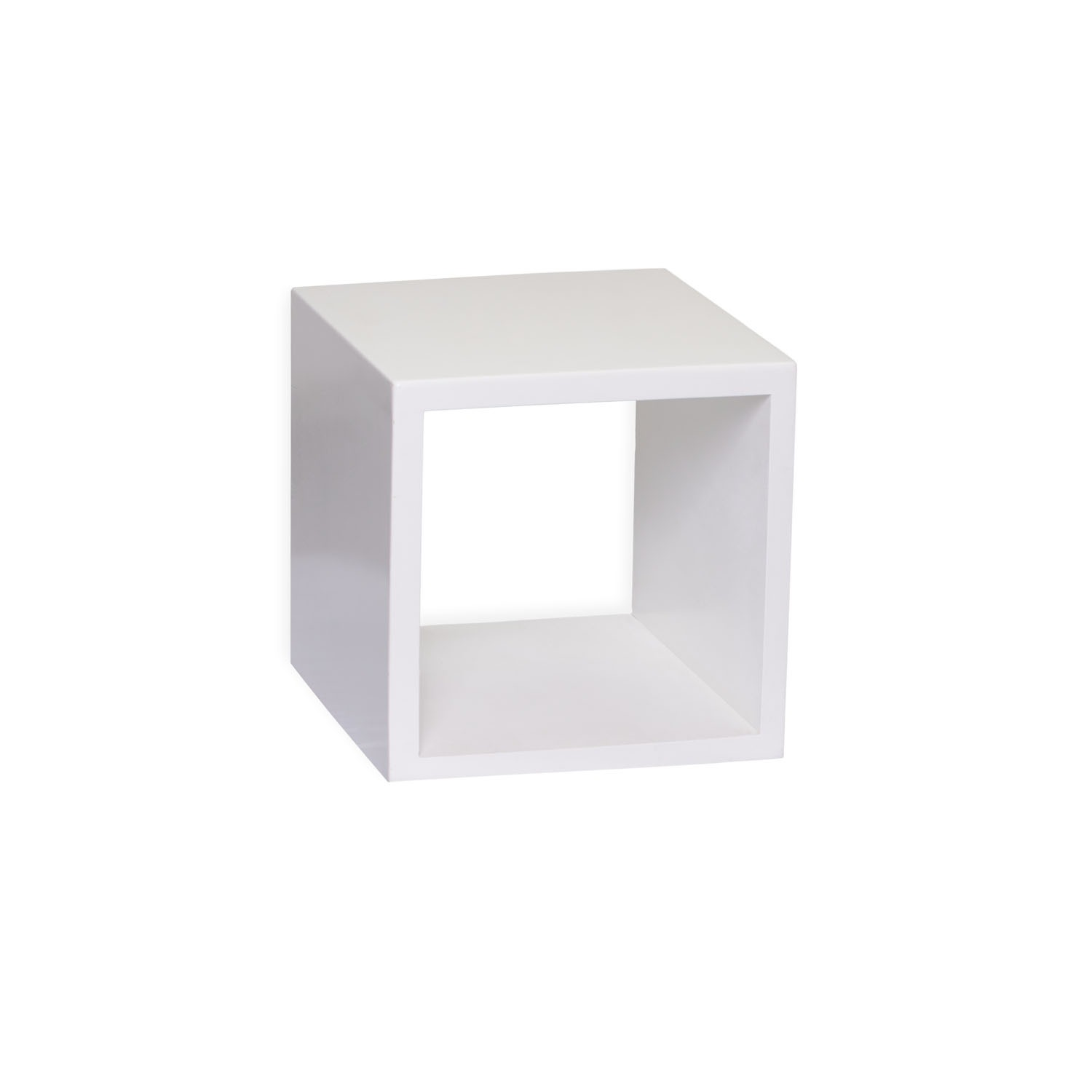 White Cube Square Side Table