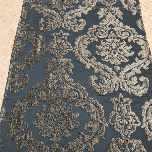 runner-damask-graphite-silver-fleur-velvet