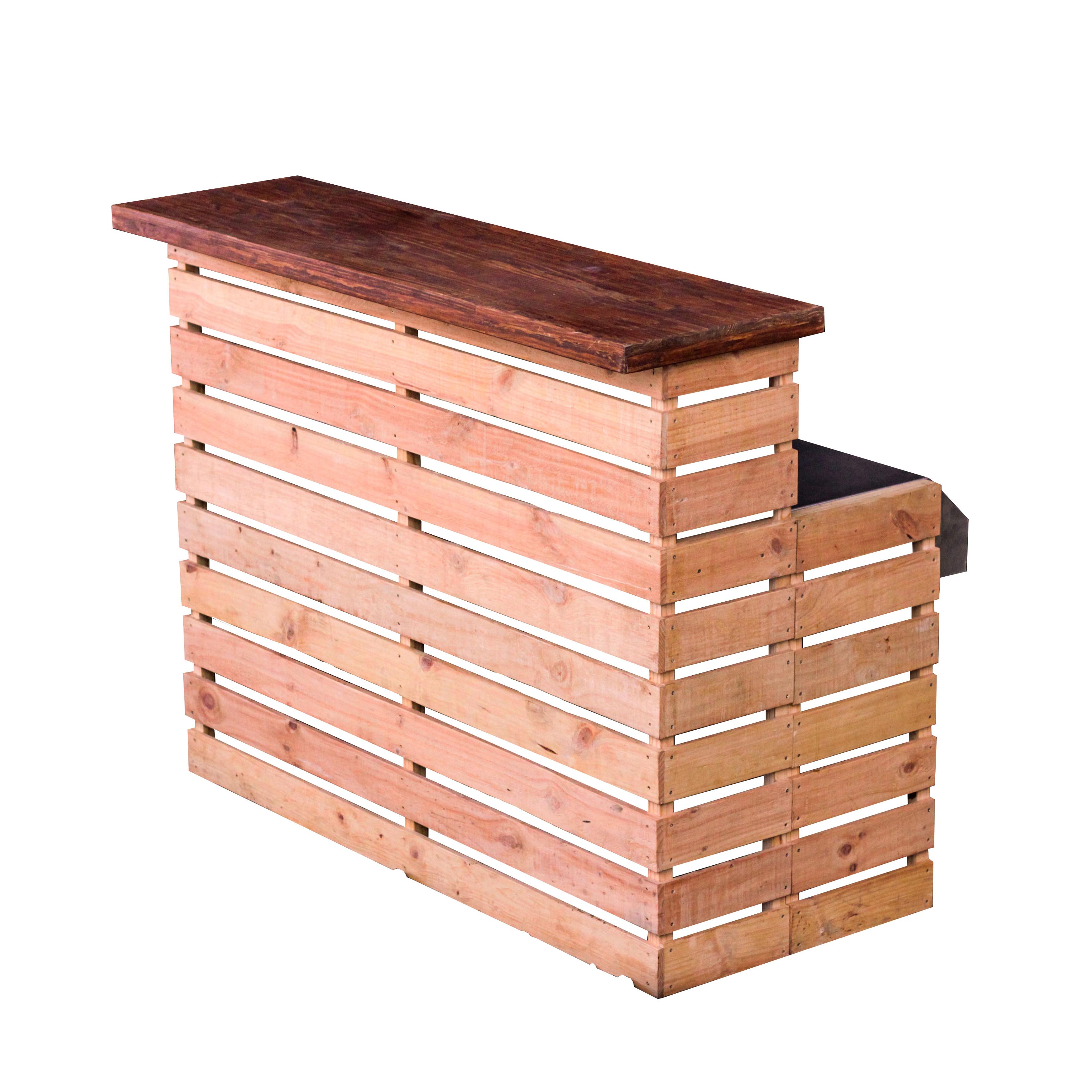 Natural Wooden Pallet Bar For Hire