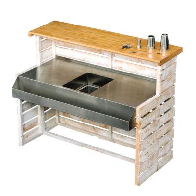 equipment bar units white wooden pallet bar EHIRE