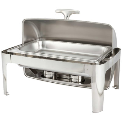 equipment chafing dish rectangle roll top stainless steel