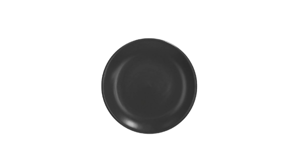 Round Black Side Plate