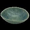Large Salad Bowl Paisley Egg Blue