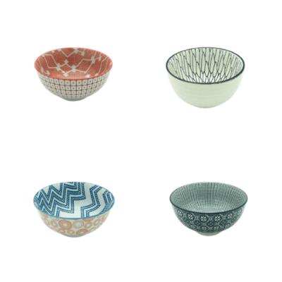 assorted colourful thai bowls