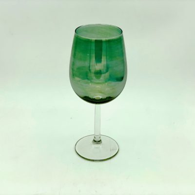 Green Coloured Wine Glass