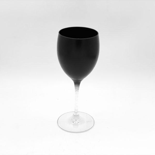 Black Coloured Wine Glass