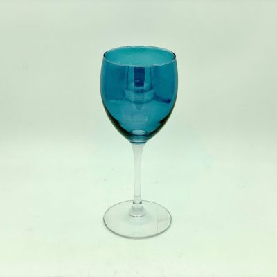 Blue Coloured Wine Glass
