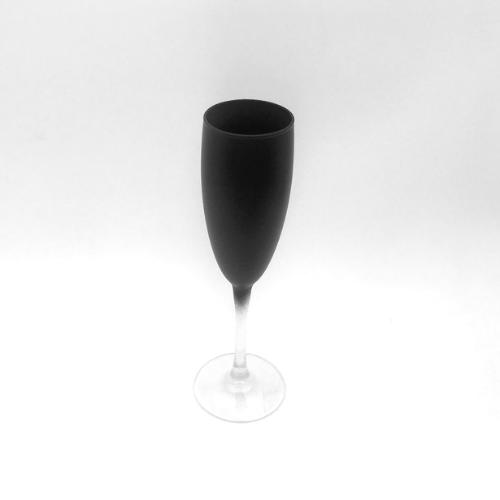 Black Coloured Champagne Glass