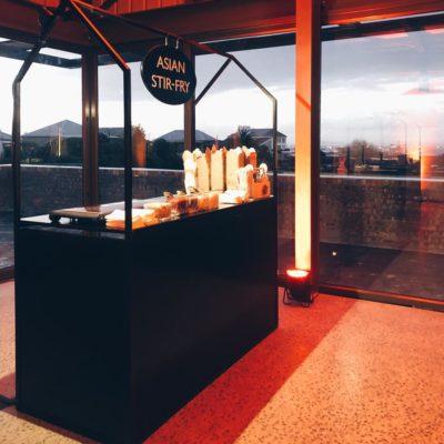 Black Food Station - Side View Setup