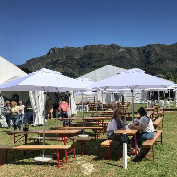 Parasol And Beer Bench Set - Scene View Setup