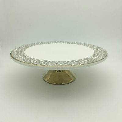 decor-tableware-cake-stand-1-tier-gold-and-white-for-hire-1