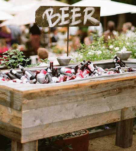 beer buckets at beer garden part