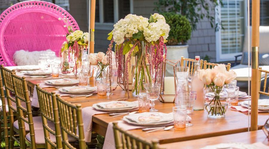 wedding shower table setting